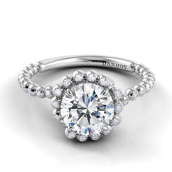 Danhov Abbraccio Round Halo Engagement Ring AE108