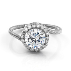 Danhov Abbraccio Round Halo Engagement Ring AE112