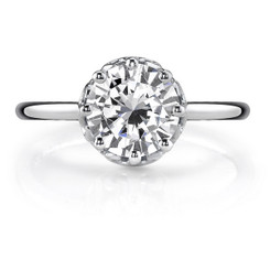 Danhov Classico Round Solitaire Single Shank Engagement Ring CL125