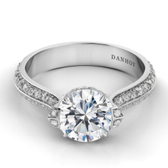 Danhov Classico Round Solitaire Engagement Ring CL147