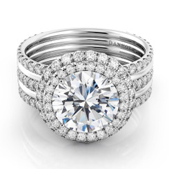Danhov Couture Round Halo Engagement Ring CE161