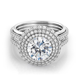 Danhov Couture Round Halo Engagement Ring CE162