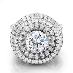 Danhov Couture Round Halo Engagement Ring CE163