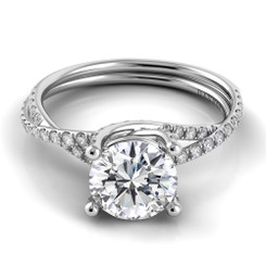 Danhov Eleganza Round Solitaire Braided Engagement Ring ZE101