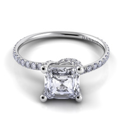 Danhov Eleganza Asscher Solitaire Single Shank Engagement Ring ZE102-AS