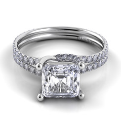 Danhov Eleganza Asscher Solitaire Double Shank Engagement Ring ZE108-AS