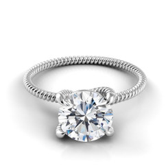 Danhov Eleganza Round Solitaire Braided Engagement Ring ZE110