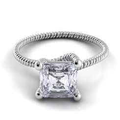 Danhov Eleganza Asscher Solitaire Braided Engagement Ring ZE110-AS