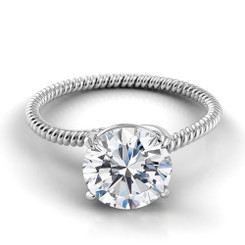 Danhov Eleganza Round Solitaire Braided Engagement Ring ZE111