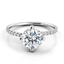 Danhov Eleganza Round Solitaire Single Shank Engagement Ring ZE138