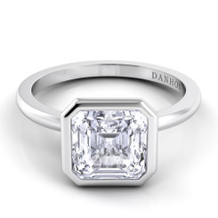 Danhov Per Lei Asscher Solitaire Single Shank Engagement Ring LE100-AS