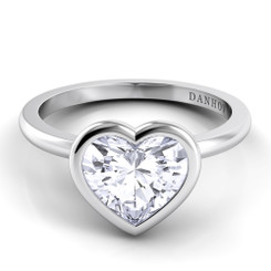 Danhov Per Lei Heart Shape Solitaire Single Shank Engagement Ring LE100-HS
