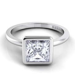 Danhov Per Lei Princess Solitaire Single Shank Engagement Ring LE100-PR