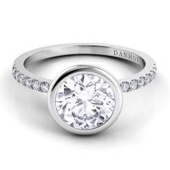 Danhov Per Lei Round Solitaire Single Shank Engagement Ring LE103