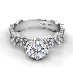 Danhov Petalo Solitaire Engagement Ring FE104