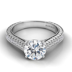 Danhov Tubetto Round Solitaire Engagement Ring TE117