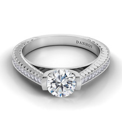 Danhov Tubetto Round Solitaire Engagement Ring TE120