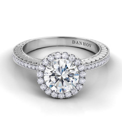Danhov Tubetto Round Halo Engagement Ring TE125