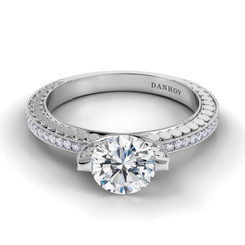 Danhov Tubetto Round Solitaire Engagement Ring TE126