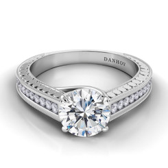 Danhov Tubetto Round Solitaire Engagement Ring TE127