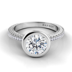 Danhov Tubetto Round Solitaire Engagement Ring TE128
