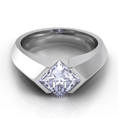 Danhov Voltaggio Princess Tension Set Single Shank Engagement Ring V131-PR