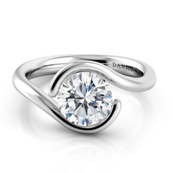Danhov Voltaggio Round Tension Set Single Shank Engagement Ring V137