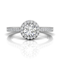 Martin Flyer Channel Halo Engagement Ring CC08XSRDQ-F-5.5RD