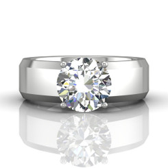 Martin Flyer Solitaire Wide Remount Engagement Ring CS03Q-9.0RD