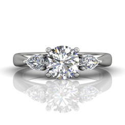 Martin Flyer Engagement Ring CT03SPSQ-C-7.0RD