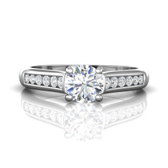 Martin Flyer Channel Engagement Ring CTC01Q-F-6.5RD