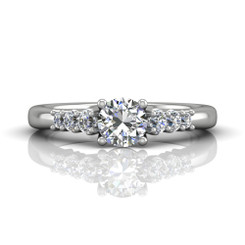 Martin Flyer Shared Prong Engagement Ring CTSP01Q-F-5.5RD
