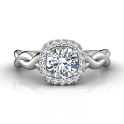 Martin Flyer Solitaire Engagement Ring CYS16XSCUQ-F-6.5RD
