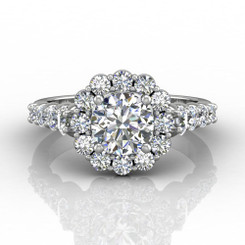 Martin Flyer Shared Prong Engagement Ring DERHSP04MCUQ-F-7.0RD