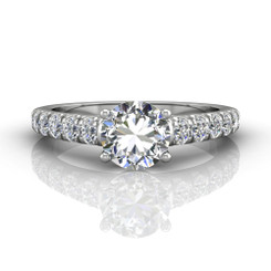 Martin Flyer Cutdown Micropave Engagement Ring DERM34SQ-F-7.0RD