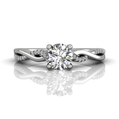 Martin Flyer Solitaire Engagement Ring DERM39XSQ-F-5.7RD