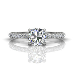 Martin Flyer Cutdown Micropave Engagement Ring DERM4XSQ-F-6.0RD