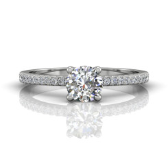 Martin Flyer Cutdown Micropave Engagement Ring DERM4XXSQ-F-5.0RD