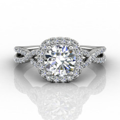 Martin Flyer Cutdown Micropave Engagement Ring DERMH27XSCUQ-F-6.5RD