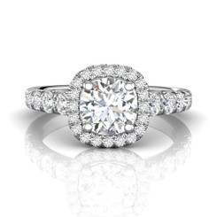 Martin Flyer Cutdown Micropave Engagement Ring DERMH34SQ-F-7.0RD