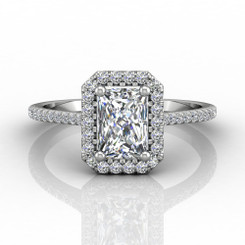 Martin Flyer Micropave Halo Engagement Ring DERMH7XSECQ-F-7X5EC