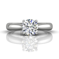 Martin Flyer Solitaire Wide Engagement Ring DERS01SQ-7.5RD