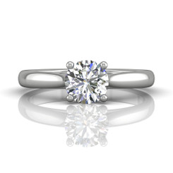 Martin Flyer Solitaire Engagement Ring DERS01XSQ-6.5RD