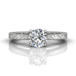 Martin Flyer Solitaire Engagement Ring DERS02XXSRQ-AENG-F-6.5RD