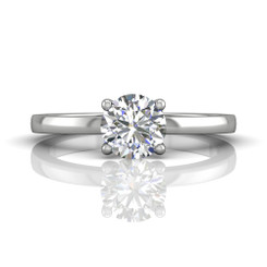 Martin Flyer Solitaire Engagement Ring DERS23XSQ-6.5RD