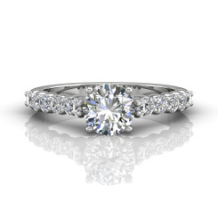 Martin Flyer Shared Prong Engagement Ring DERSP03XSQ-F-6.5RD