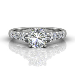 Martin Flyer Shared Prong Engagement Ring DERSP04MRQ-F-7.0RD