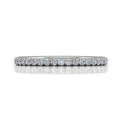 Martin Flyer Cutdown Micropave Eternity Wedding Band DWBFM4Q-.50-F