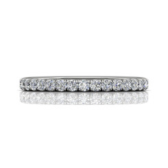 Martin Flyer Cutdown Micropave Eternity Wedding Band DWBFM4Q-.75-F