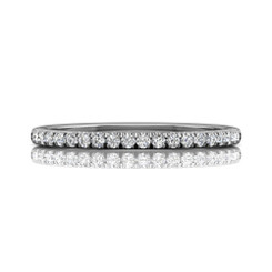 Martin Flyer Cutdown Micropave Wedding Band DWBM4Q-.25-F